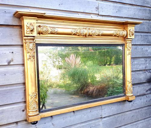 19th Century Gilt Overmantel Mirror (1 of 3)