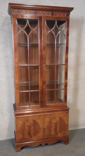 Reproduction Mahogany Display Cabinet (1 of 12)