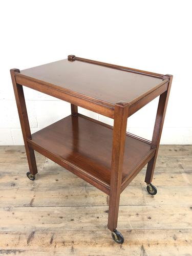 Antique Mahogany Two Tier Drinks Trolley or Tea Trolley (1 of 11)