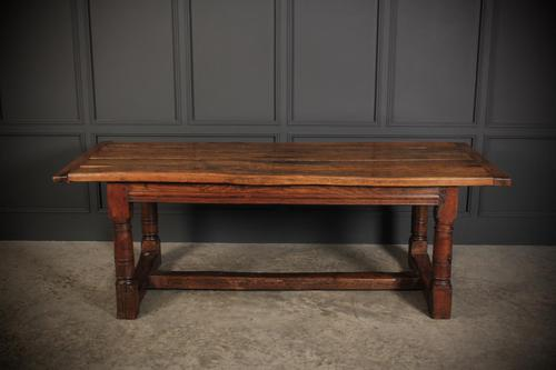 18th Century Solid Oak Refectory Dining Table (1 of 12)