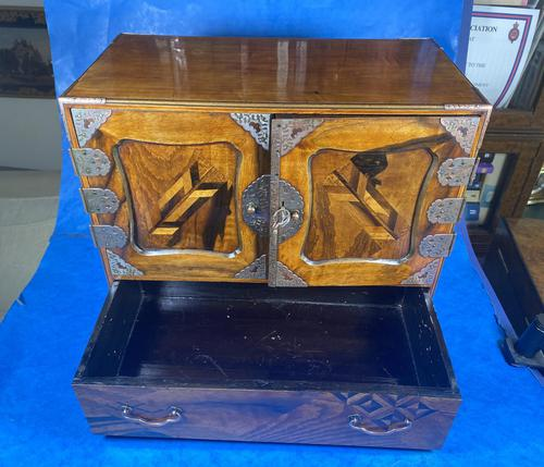 Japanese Inlaid Table Cabinet c.1900 (1 of 11)