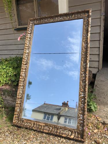 Antique French Mirror with Gesso Moulding (1 of 10)