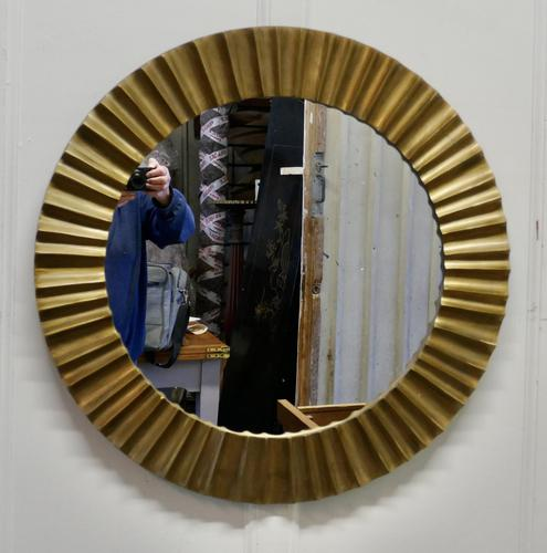 Heavy Brass Art Deco Odeon Sunburst Mirror (1 of 5)