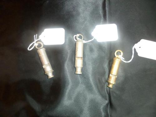 THREE Police Whistles c1920's/30's  being sold seperately. (1 of 7)
