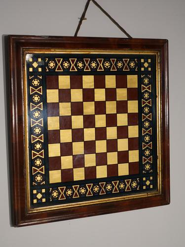 Most Attractive Mid 19th Century a Verre Eglomisé Chessboard (1 of 2)