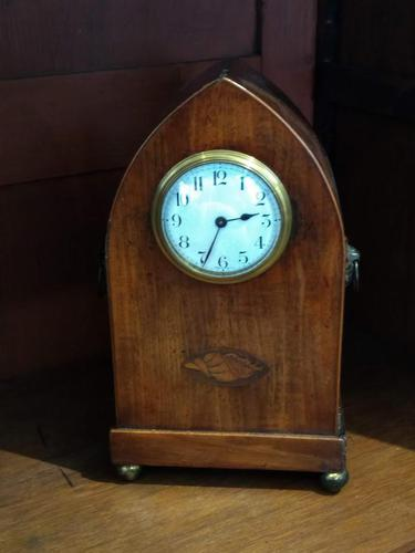 Late Victorian French Escapement Gothic Style Mantel Clock (1 of 9)