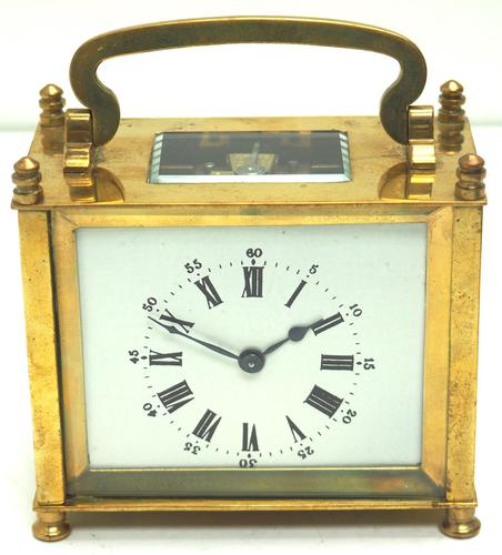 Interesting Antique French 8-day Carriage Clock Rectangle Design (1 of 9)