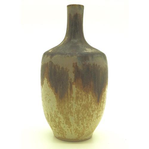 Art Deco Denbac French Art Pottery Stoneware Bottle Vase C. 1920's+ (1 of 5)