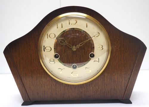 Smiths Arched Top Art Deco Mantel Clock – Musical Westminster Chiming 8-day Mantle Clock (1 of 9)