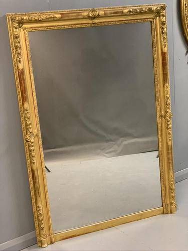 Large French gilt overmantle mirror (1 of 7)