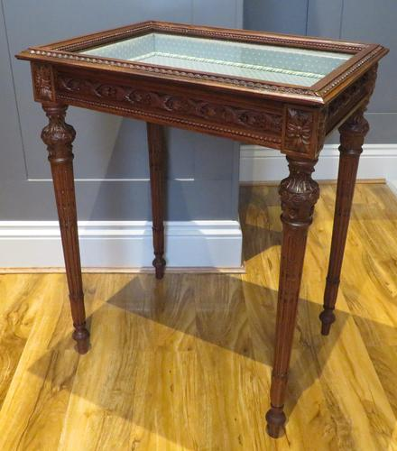 Superb Hand Carved Solid Mahogany Bijouterie Vitrine (1 of 9)