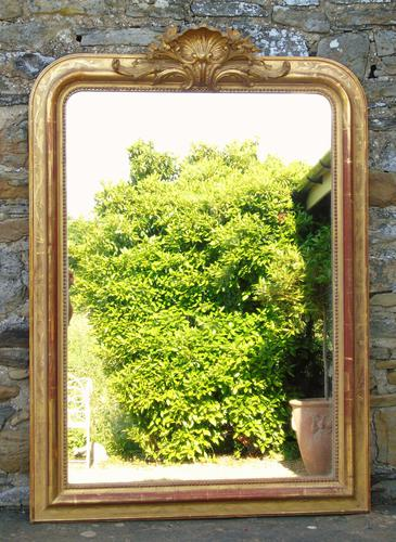 Beautiful Antique French Gilt Mirror (1 of 8)