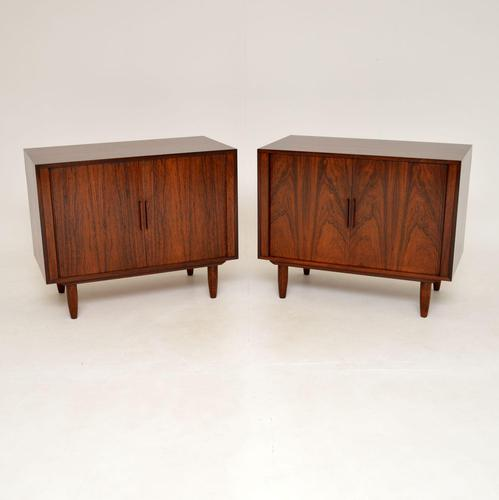 Pair of Danish Vintage Rosewood Cabinets by Kai Kristiansen (1 of 12)