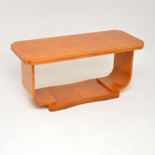 Art Deco Burr Maple Coffee Table by  Epstein (1 of 10)