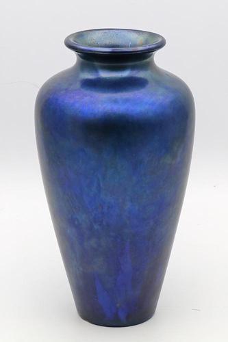 Blue Zsolnay Pecs Vase (1 of 2)