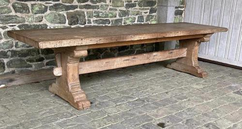 Huge French Bleached Oak Farmhouse Refectory Dining Table (1 of 11)