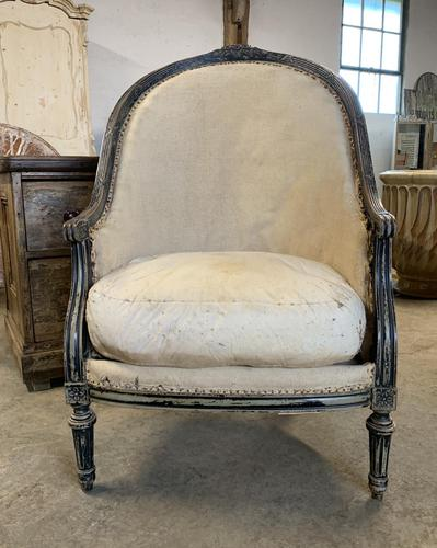 French Louis XVI Style High Back Chair (1 of 5)