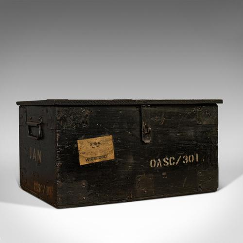 Antique Railway Carriage Chest, English, Pine, Mail Trunk, GWR, Edwardian, 1910 (1 of 11)