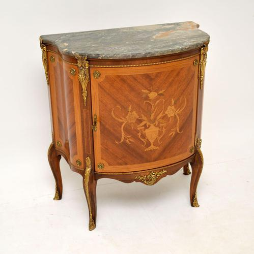 Antique French Inlaid  Marquetry Marble Top Cabinet (1 of 10)