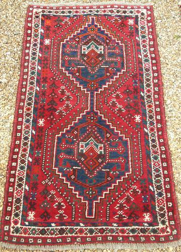 Samll Antique Kashgai Carpet (1 of 4)