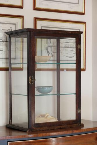 Antique Vintage Mahogany & Glass Display Cabinet with glass shelves (1 of 7)