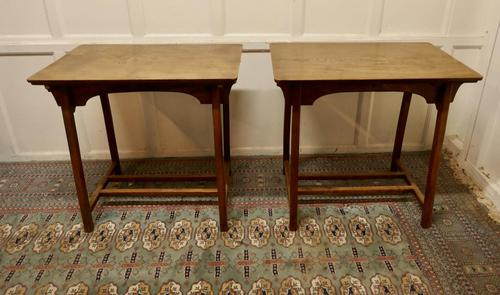 Pair of Arts & Crafts Elm Tables (1 of 8)