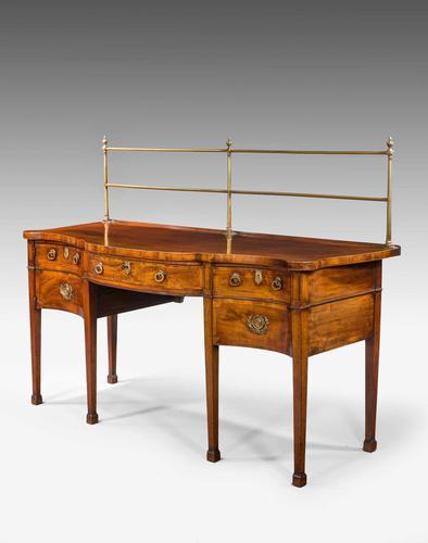 George III Period Serpentine Sideboard (1 of 8)