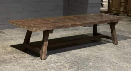 Huge Rustic French Oak Farmhouse Dining Table (1 of 35)