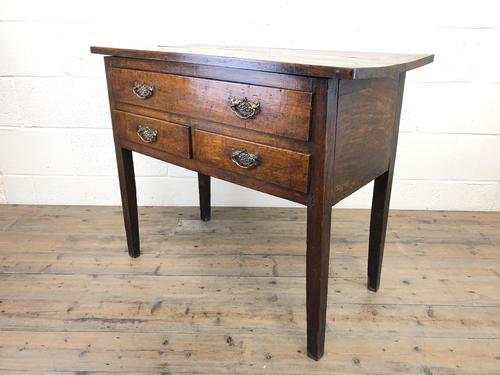 Early 19th Century Oak Lowboy Side Table (1 of 13)