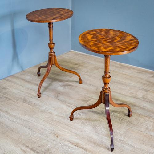 Pair of Mahogany Tripod Tables (1 of 9)