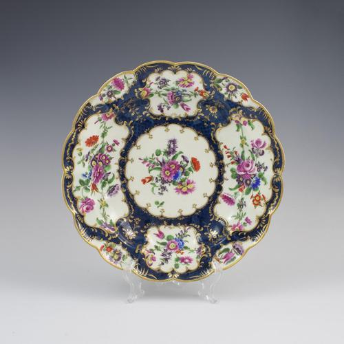 First Period Worcester Porcelain Blue Scale Junket Dish c.1770 (1 of 7)