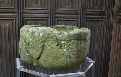 Rare Medieval Stone Font / Stoop (1 of 7)
