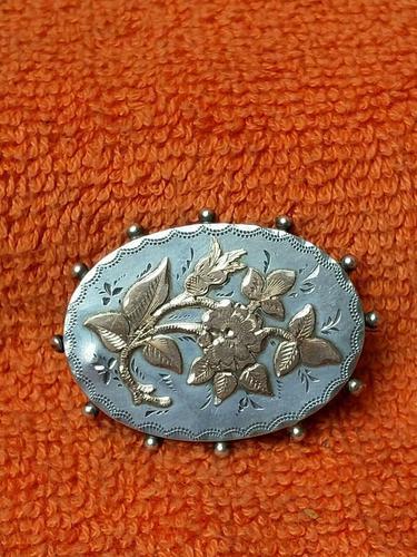 Antique Sterling Silver & Rose Gold Brooch 1887 J W Tiptaft & Son Ltd (1 of 5)