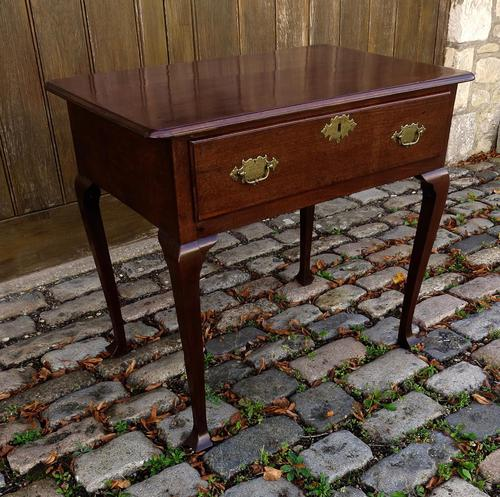 George II Period 'Virginia Walnut' Lowboy (1 of 4)