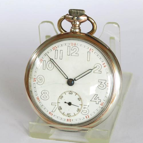 """1940s """"Solid"""" Pocket Watch from Perfecta (1 of 5)"""
