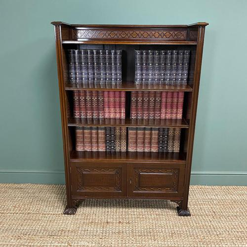 Quality Edwardian Mahogany Antique Bookcase by Waring & Gillow (1 of 8)