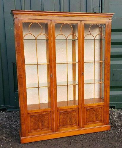 Reprodux bevan funnell yew wood display cabinet (1 of 8)