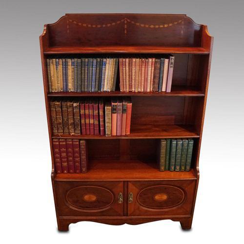 Edwardian Mahogany Open Bookcase (1 of 8)