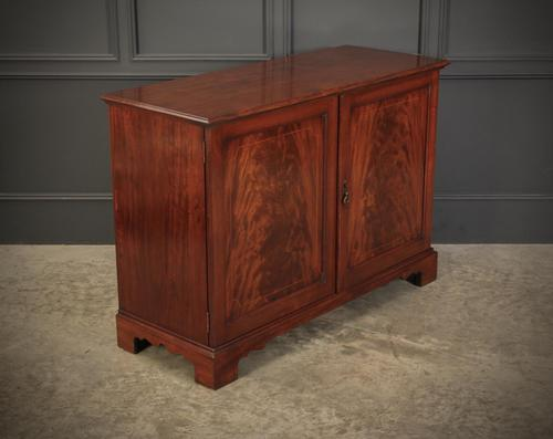 Solid Mahogany Inlaid Low Side Cabinet (1 of 16)