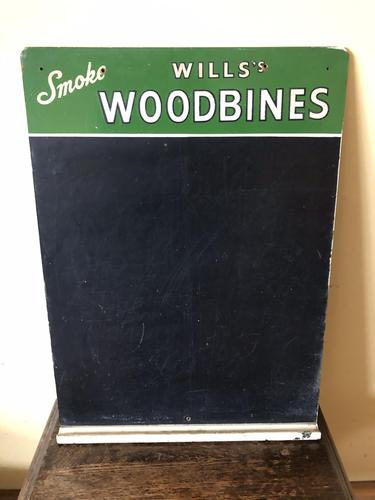 Vintage Advertising Sign - Will's Chalkboard - Will's Woodbines - Home Pub (1 of 7)