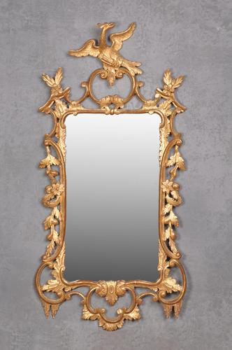 Fine 19th Century Chippendale Style Giltwood Mirror (1 of 8)