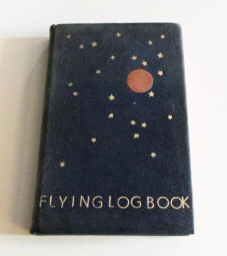 1950's Hand Written  Flying Log Book  with Photographs (1 of 7)
