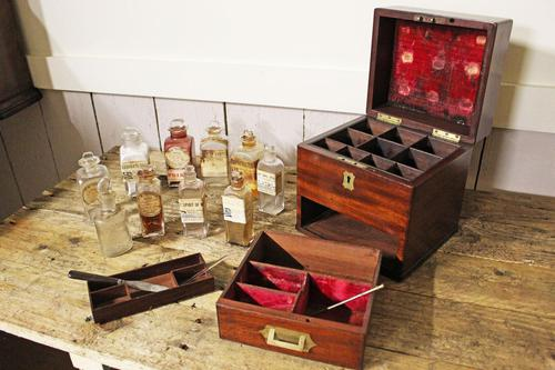 Apothecary Case. Early 19thC. Doctors Medical Chemical Chest. (1 of 8)