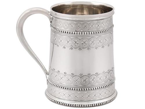 Sterling Silver Christening Mug - Antique Victorian 1881 (1 of 9)