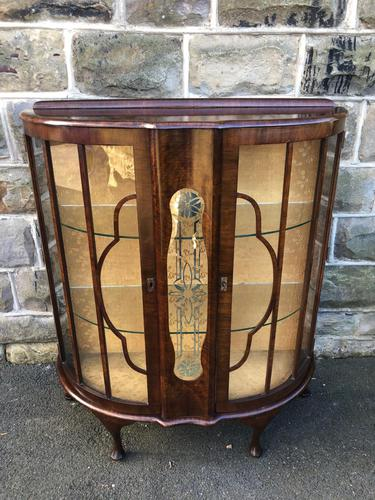 Antique Walnut China Display Cabinet (1 of 10)