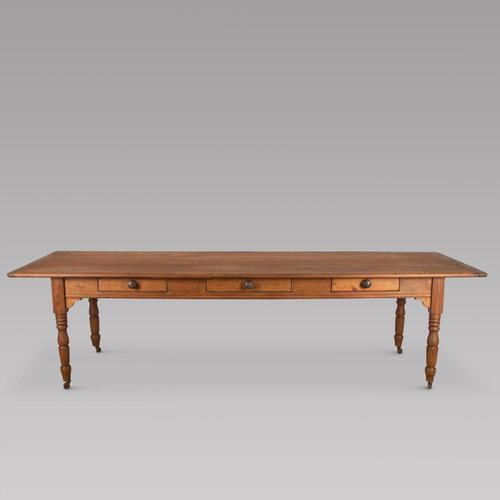 19th Century Pine French Country Farmhouse Table (1 of 4)