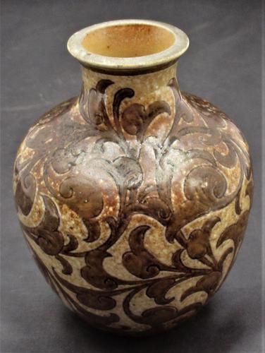 Martin Brothers, salt glazed stoneware vase, signed and dated 1890, Martinware (1 of 6)