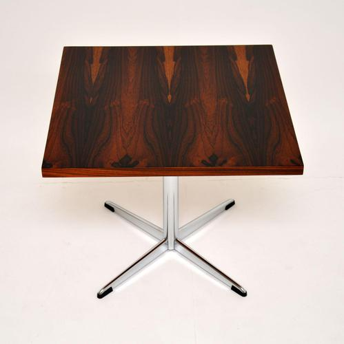 Rosewood & Chrome Vintage Coffee / Side Table by Howard Keith (1 of 6)