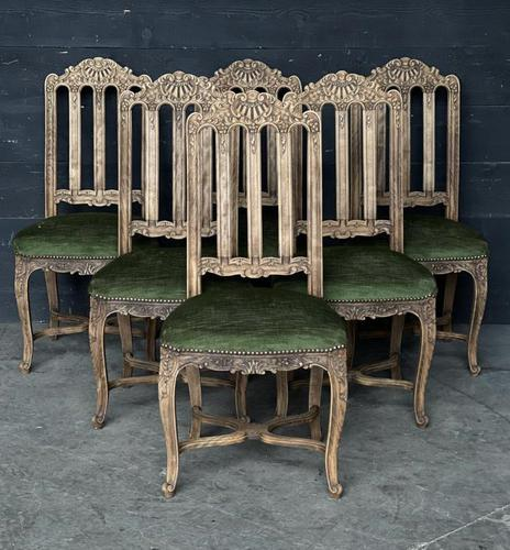 Set of 6 French Oak Farmhouse Dining Chairs (1 of 10)