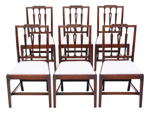 Set of 6 Georgian Mahogany Dining Chairs 19th Century c.1820 (1 of 7)